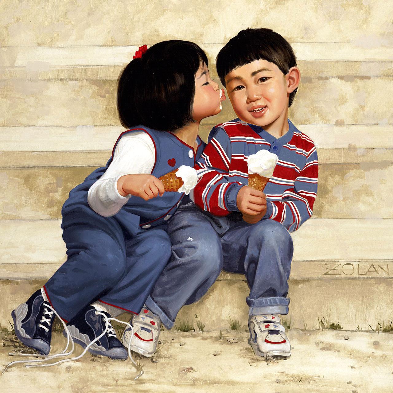 donald zolan kids kiss