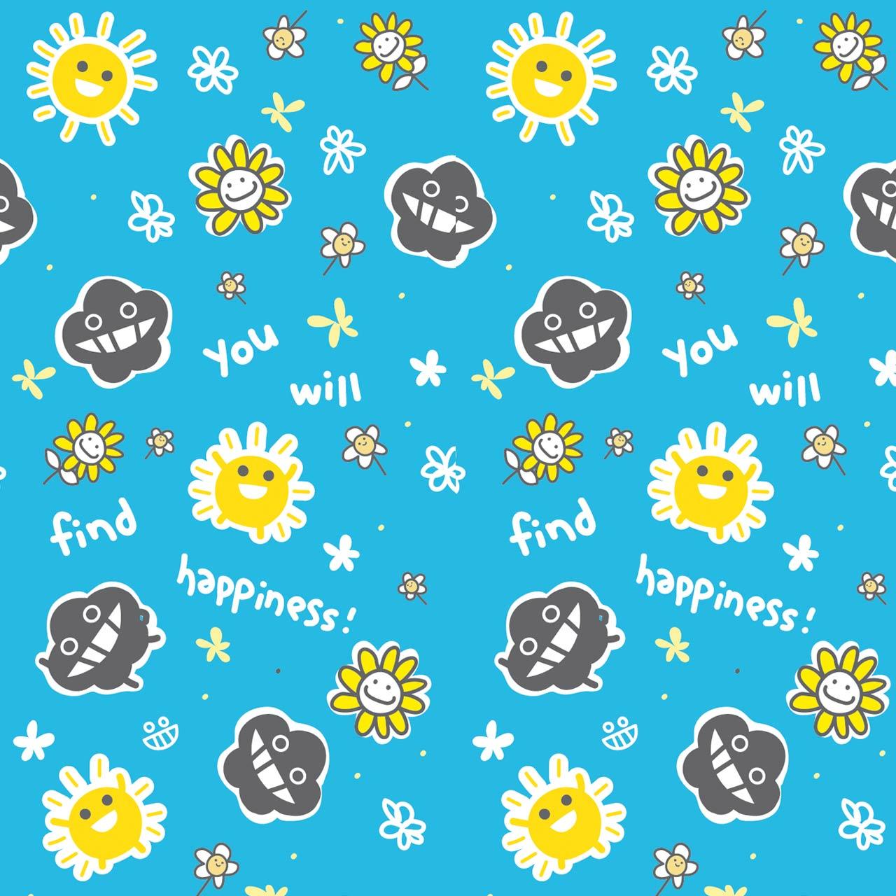 dustykid pattern happiness