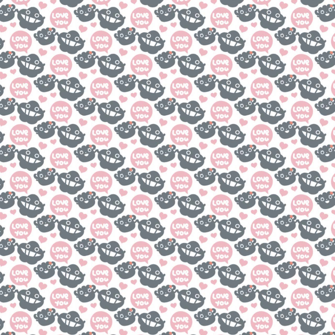 dustykid pattern love you