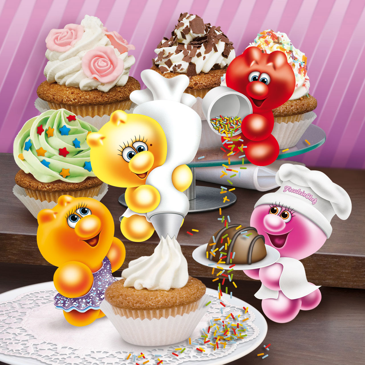 gelini character cupcakes