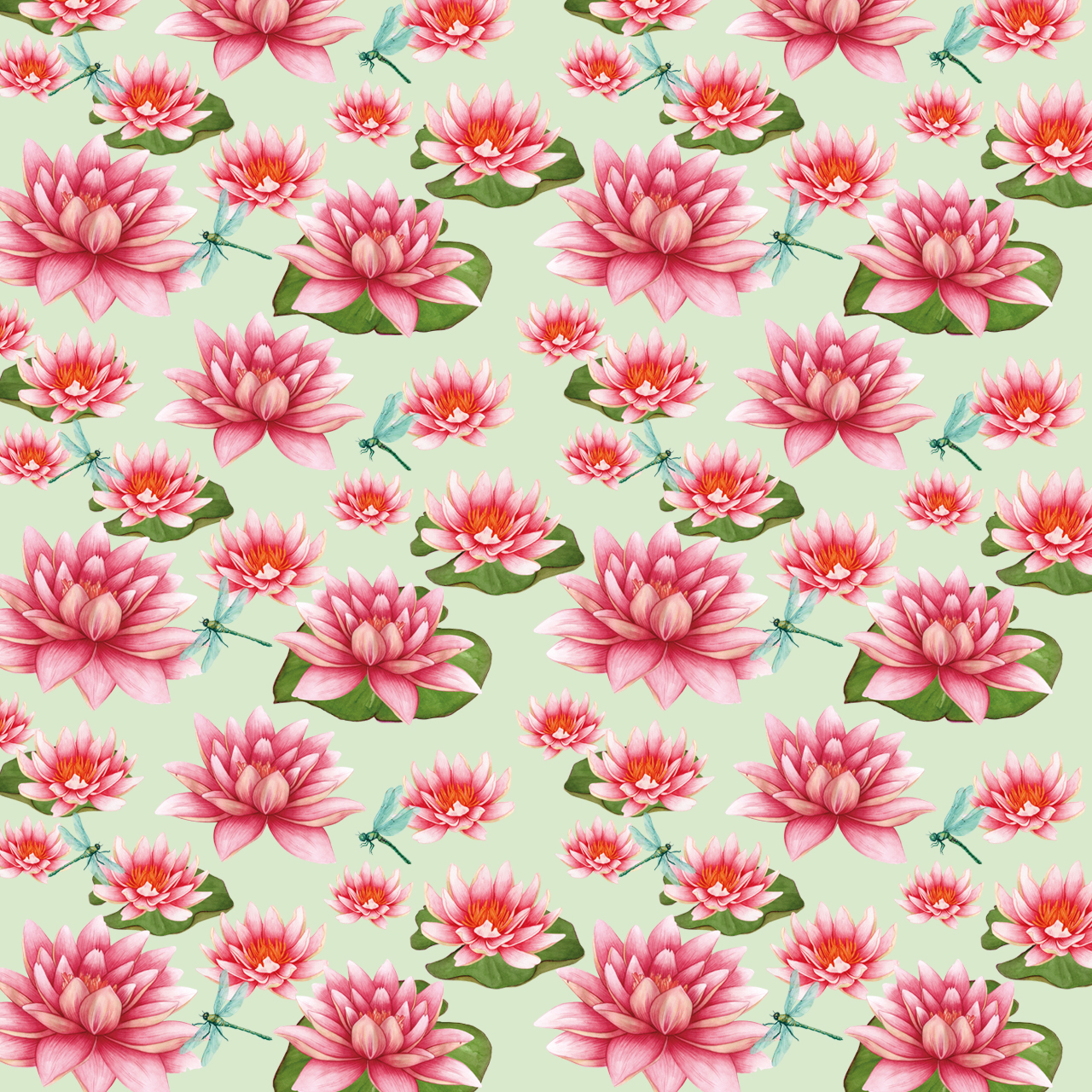 Yume floral patterns pond collection