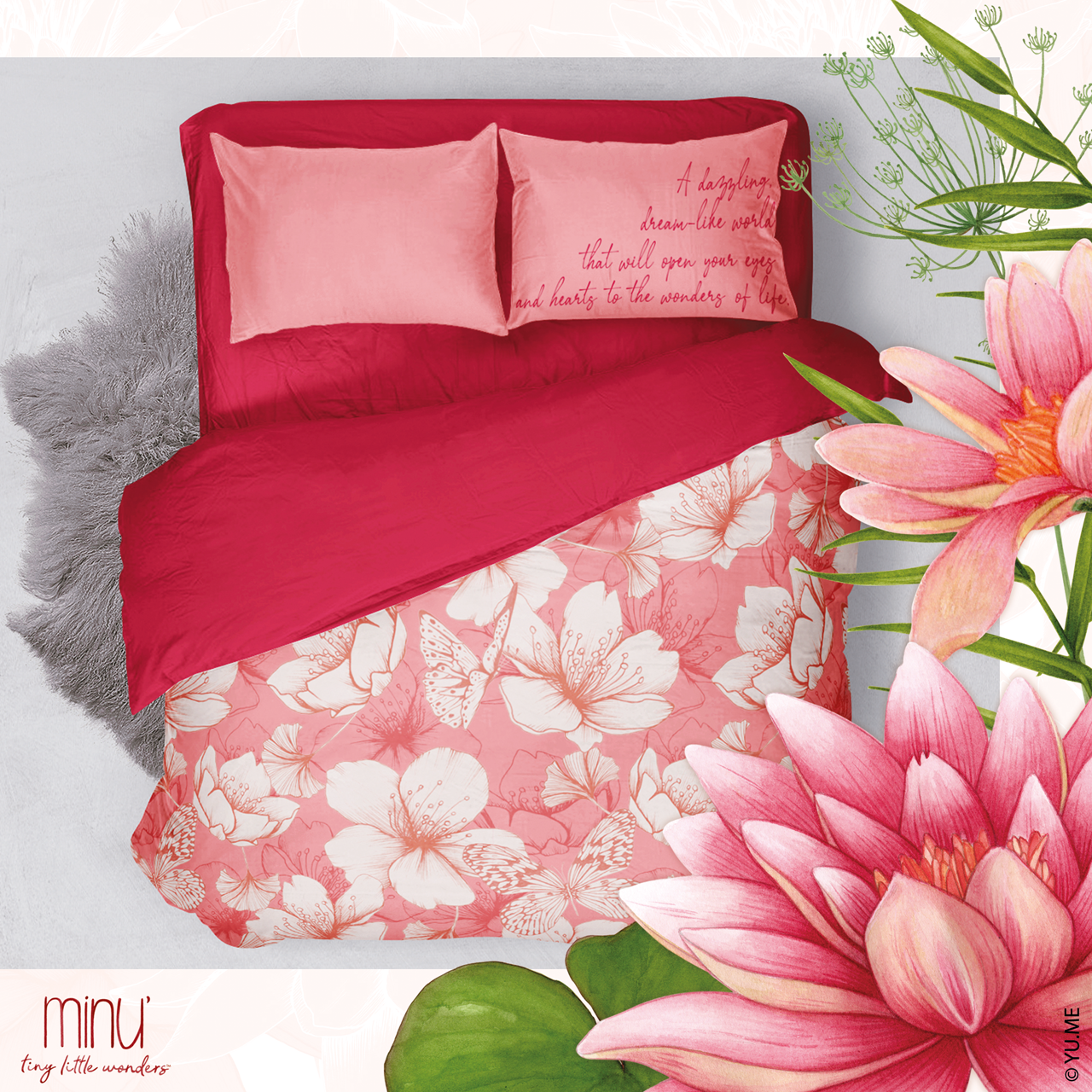Yume floral bedding home