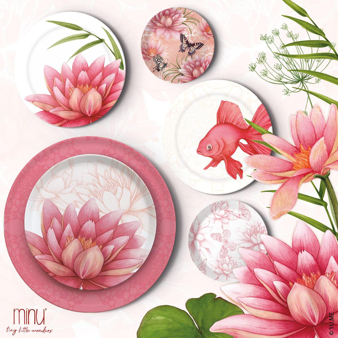 yume floral plates