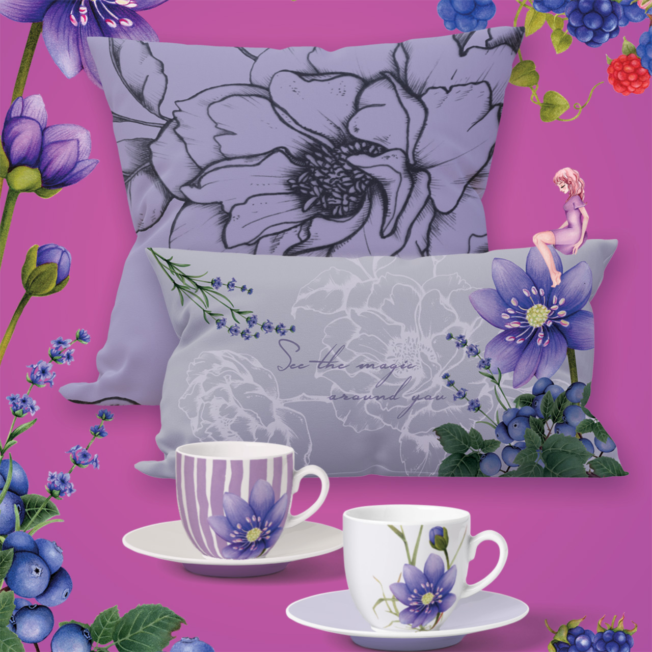 Yume wildberry home collection